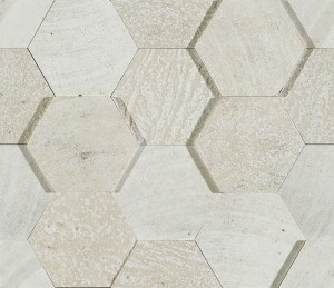L'Antic Amsterdam 3d Hexagon Beige Bpt 19x19 cm