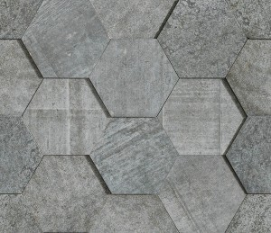 L'Antic Amsterdam 3d Hexagon Grey Bpt 19x19 cm